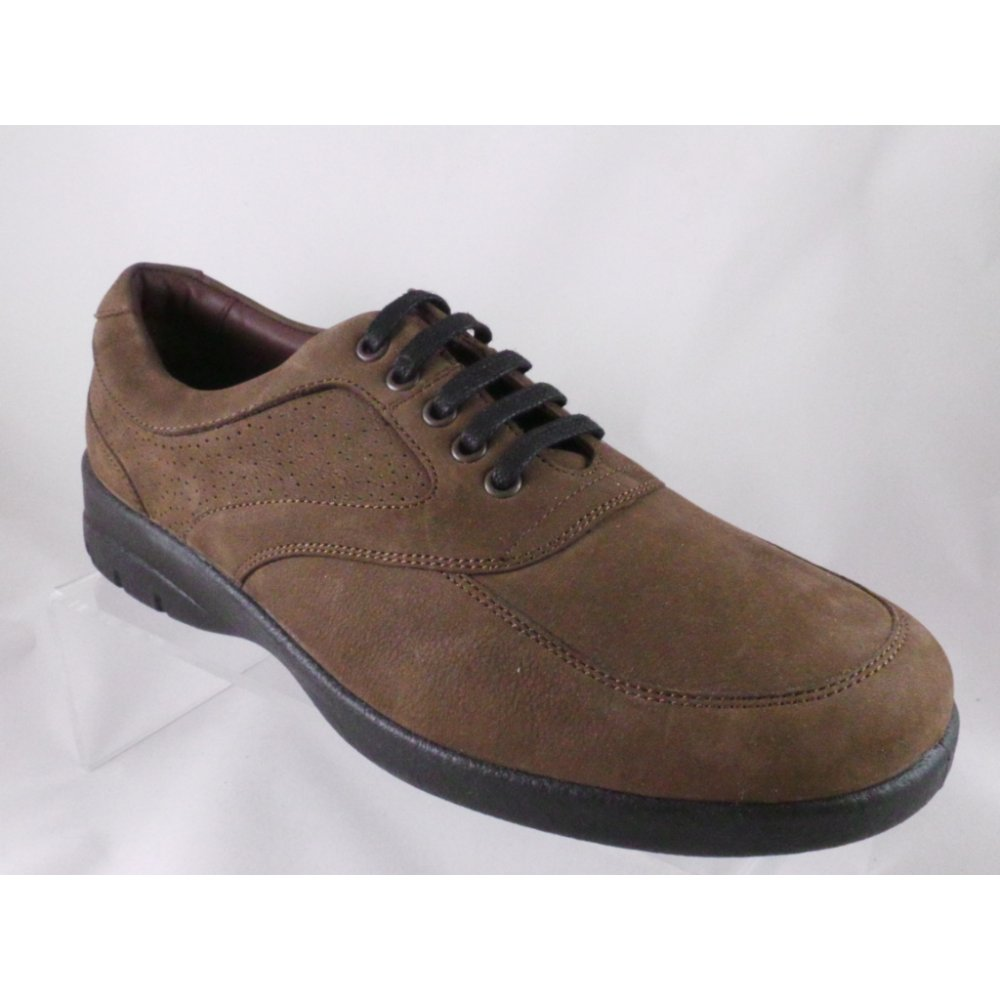 padders padders brown leather lace up casual shoe