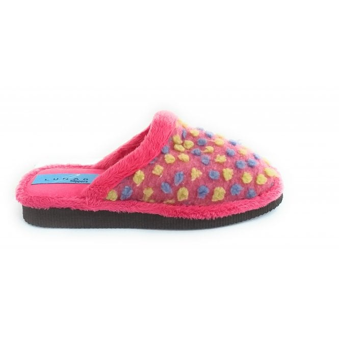 Lunar Palm Pink Mule Slippers