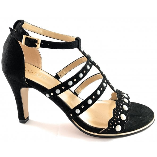 Lotus Pearl Black and Pearl Sandal