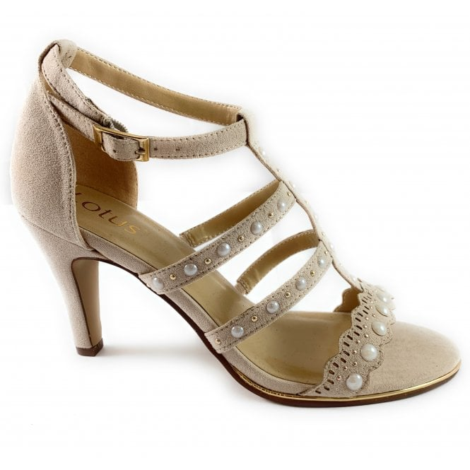 Lotus Pearl Sand and Pearl Sandal