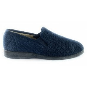 Pendle Mens Navy Slippers