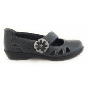 Pewter Leather Casual Shoes