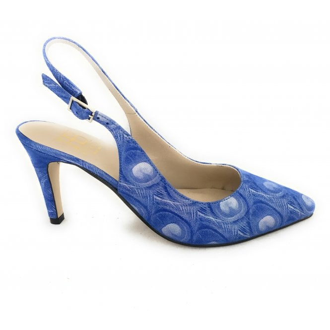 HB Pina Blue Patterned Court Shoe