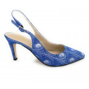 Pina Blue Patterned Court Shoe