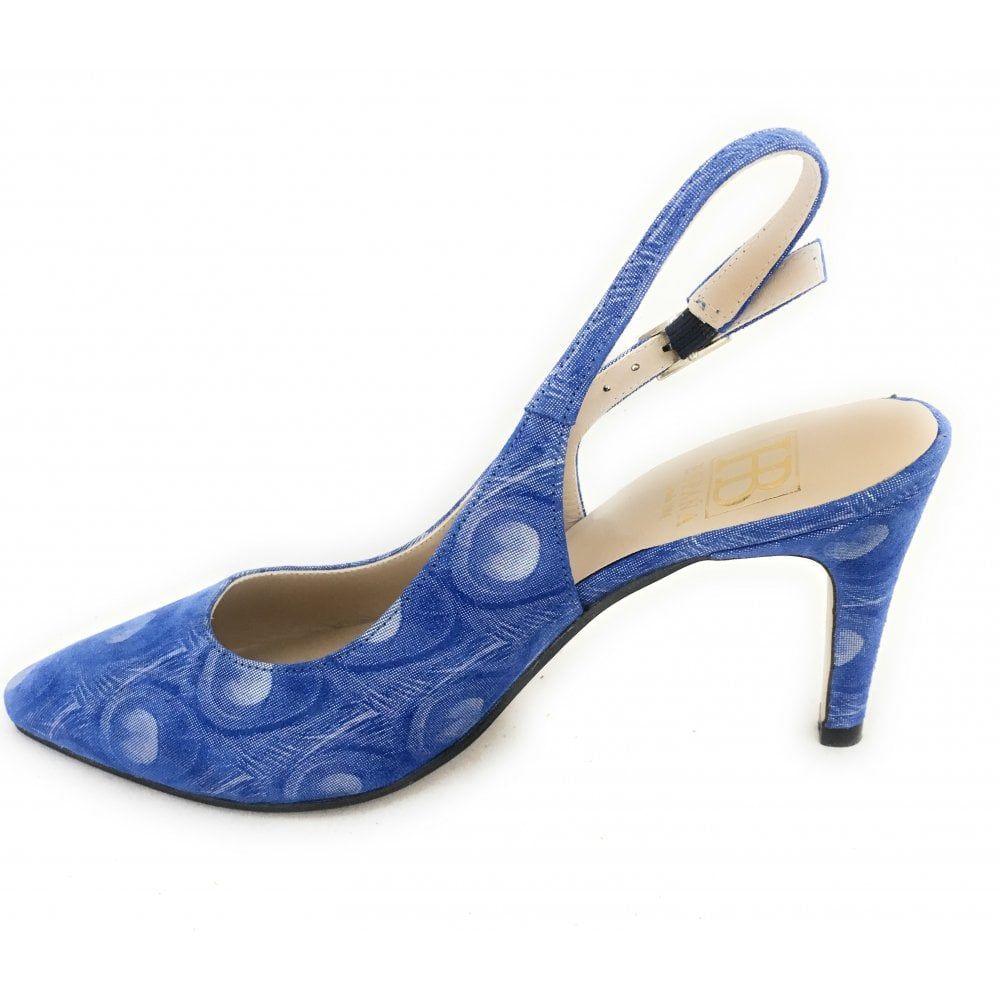 3c581aa91f84b HB Pina Blue Patterned Court Shoe - HB from size4footwear.com UK