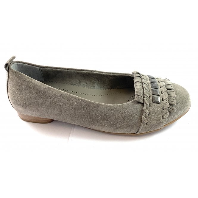 Jenny Pisa 22-53371 Grey Microvelour Ballerina Shoe