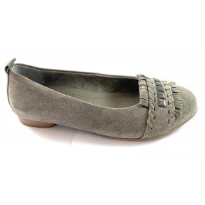 Pisa 22-53371 Grey Microvelour Ballerina Shoe