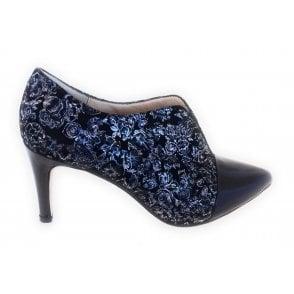 Pracedes Navy Floral Trouser Shoe