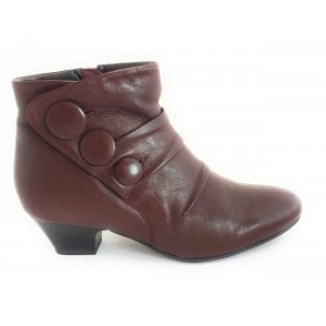 Prancer Bordo Leather Ankle Boot