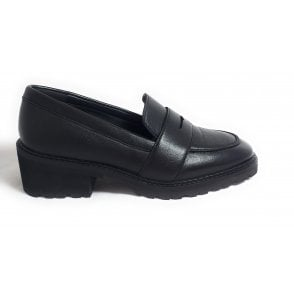 Puerto Black Leather Loafers