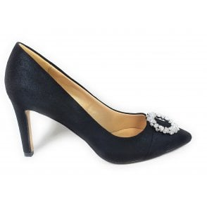 Radiance Black Pointed Toe Court Shoes
