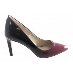 Rapid Red and Black Patent Court Shoe
