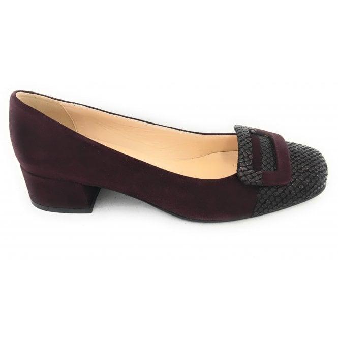 HB Rebecca Burgundy Suede Court Shoe