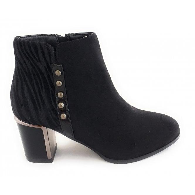 Lotus Rebel Black Ankle Boots