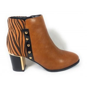 Rebel Tan Ankle Boots