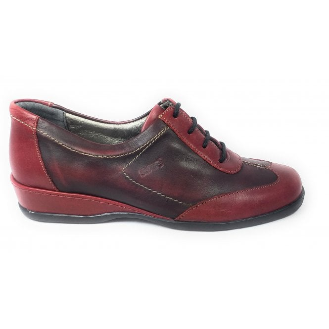 Suave Red Leather casual Lace-Up Shoes