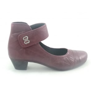 Red Leather Dolly Shoe