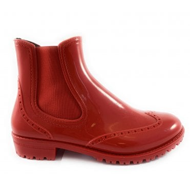 Red Short Wellington Boot