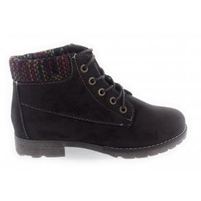 Reveka Brown Microfibre Lace-Up Casual Boot
