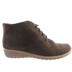 Rhodos 22-62769 Brown Suede Lace-Up Ankle Boot