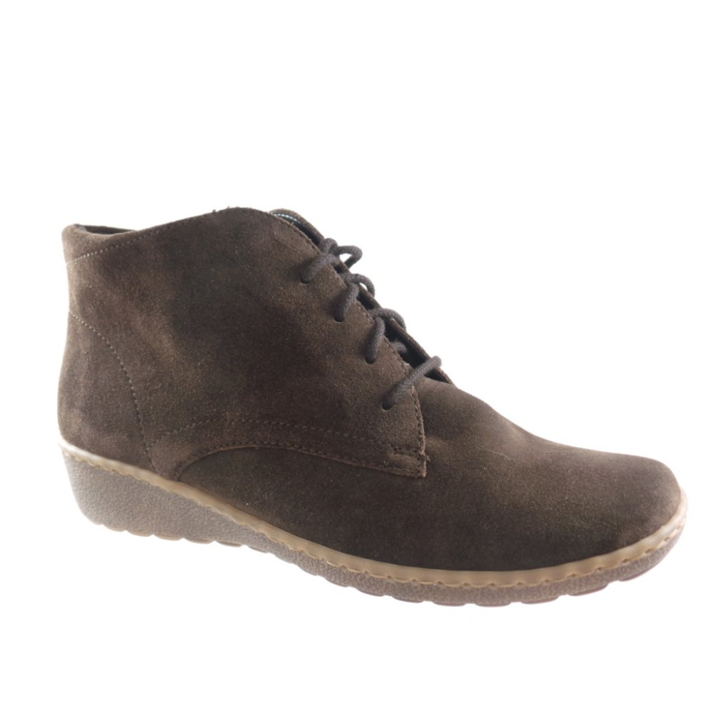 rhodos 22 62769 brown suede lace up ankle boot