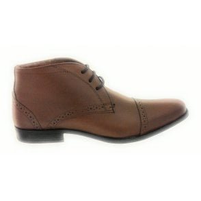 Rickard Brown Leather Lace-Up Men's Ankle Boot