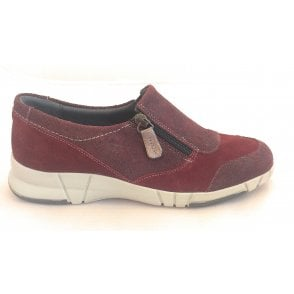 Rilla Cherry Print and Suede Comfort Shoes