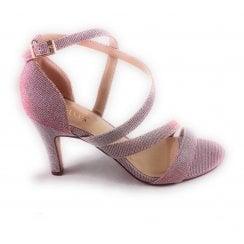 Rimes Pink Shimmer Open-Toe Sandal