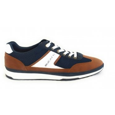 Riptide321-A3A01-6959 Navy, Tan and White Trainers