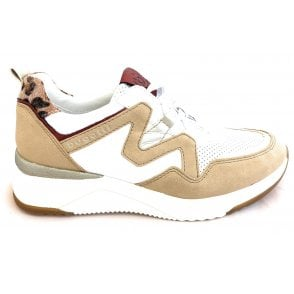 Rise 431-A2L01-5455 Beige and White Trainers