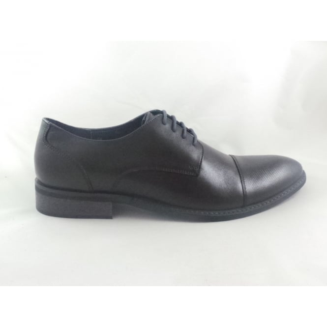 Lotus Risley Black Leather Mens Lace-Up Shoe