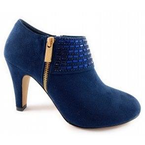 Ronna Navy Microfibre Shoe Boot