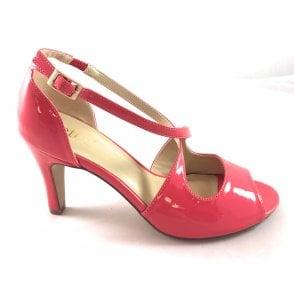Rosalie Coral Patent Peep-Toe Shoe