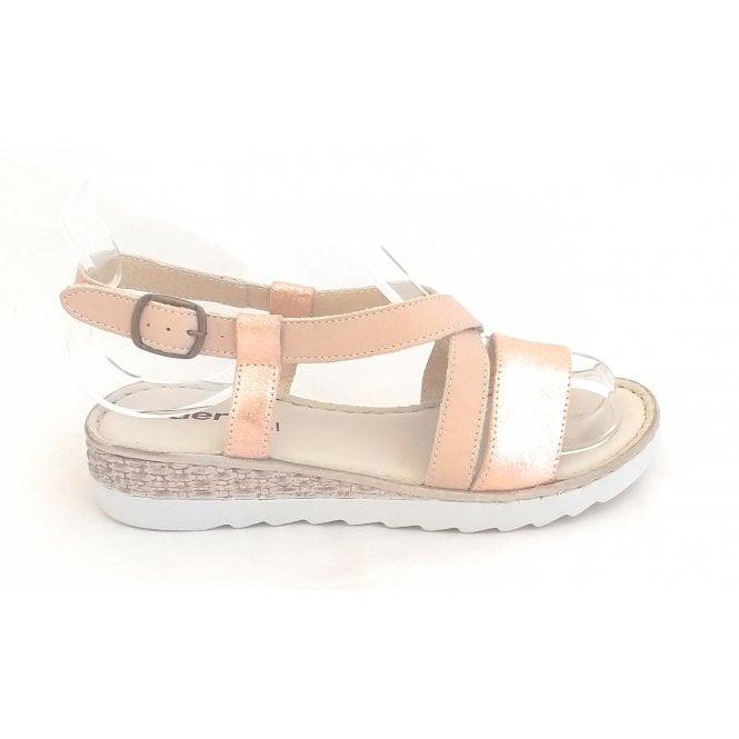 Aeros Rose Gold Open Toe Sandal