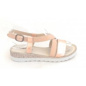 Rose Gold Open Toe Sandal