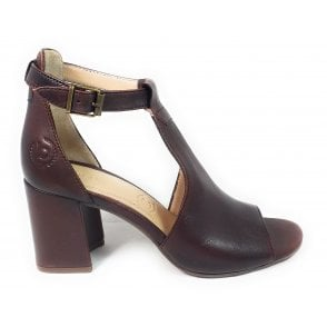 Rosella 411-88280-4100 Brown Leather Heeled Sandals