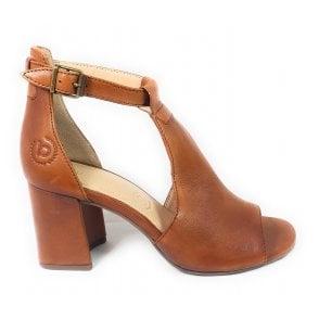Rosella 411-88280-4100 Tan Leather Heeled Sandals
