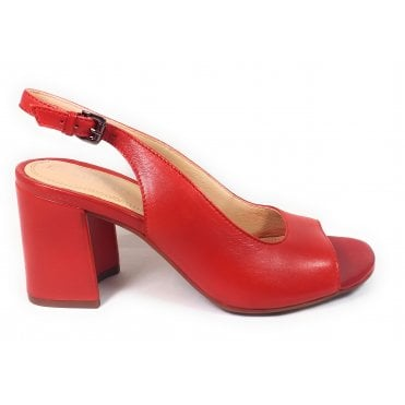 Rosella 411-88281-4100 Red Leather Heeled Sandals