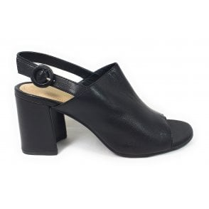 Rosella 411-88290-4000 Black Leather Heeled Sandals