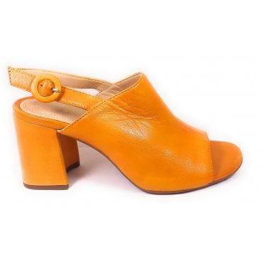 Rosella 411-88290-4000 Yellow Leather Heeled Sandals