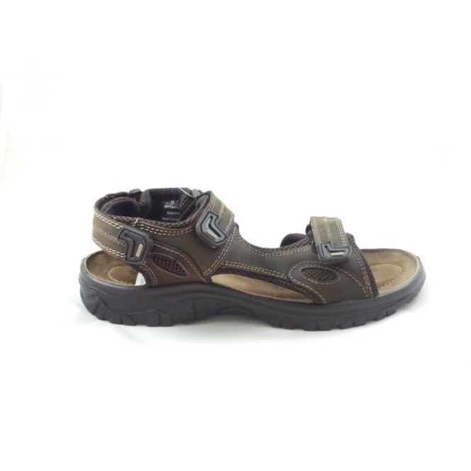 Lotus Rothbury Brown Leather Open Toe Raft Sandal