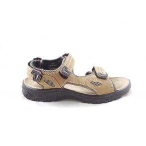 Rothbury Sand Leather Open Toe Raft Sandal