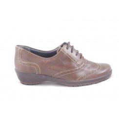 Ruby Brown Leather Lace-Up Brogue Shoe