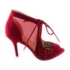 Ruple Red Diamante Shoe