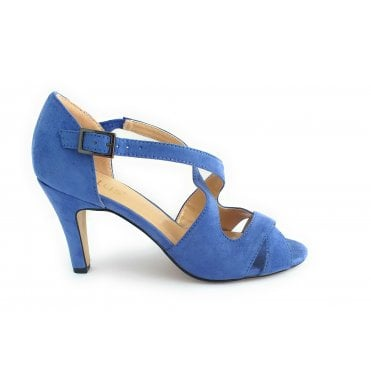 Sadia Cornflower Blue Peep-Toe Shoe