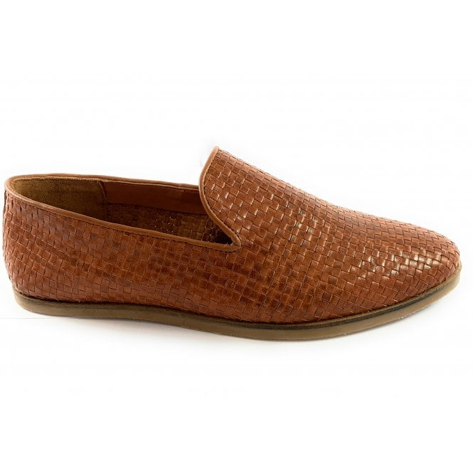 Salcombe Tan Leather Slip-On Loafer