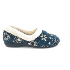 Salon Blue Full Slipper