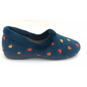 Salon Navy Full Slipper