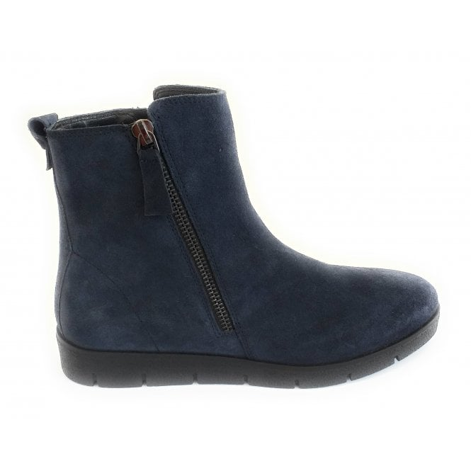 Lotus Sammy Navy Suede Ankle Boot