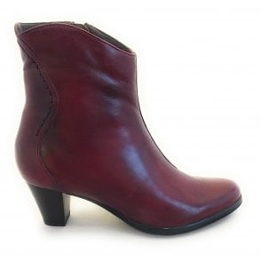Sangria Leather Ankle Boots